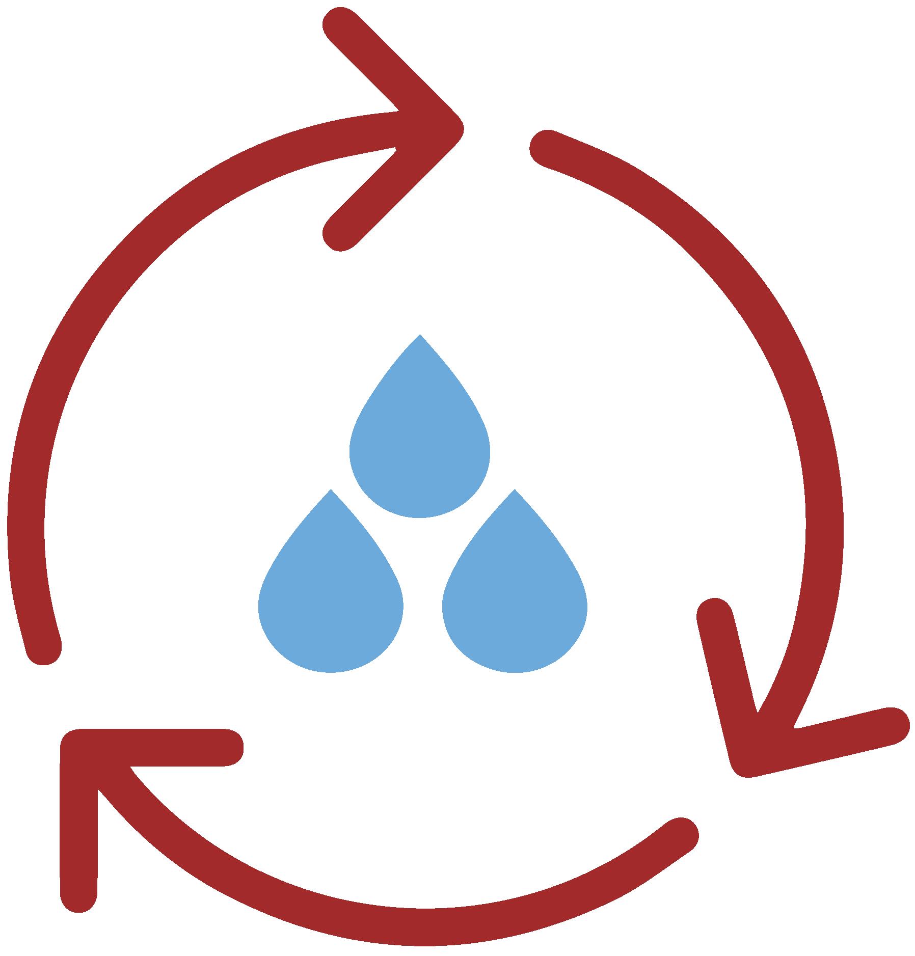 Reutilização das águas na pasta e vidros