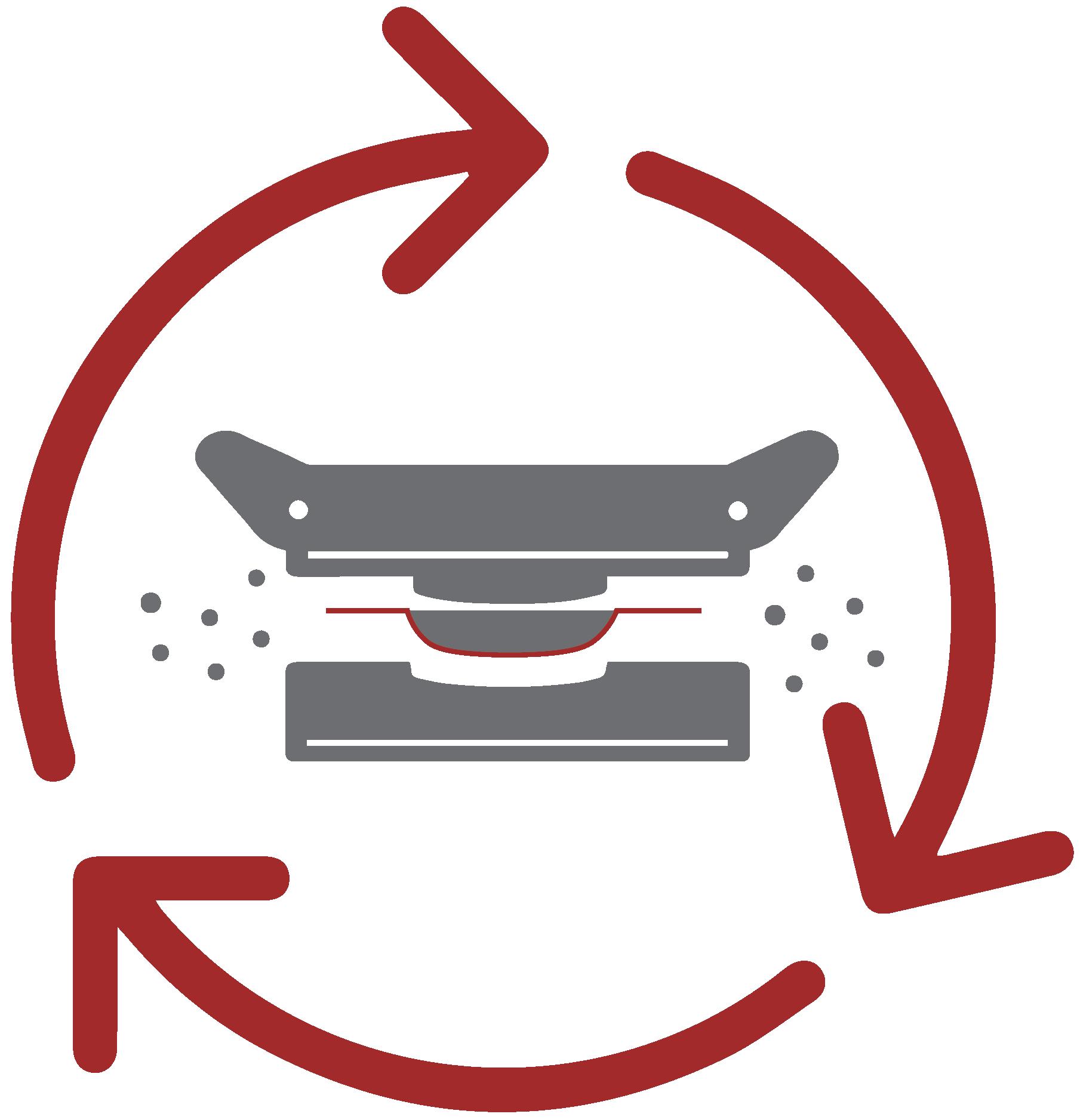 Reintrodução interna 100% de aparas, reduzindo o consumo das matérias virgens