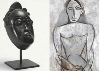 Máscara africana e Picasso